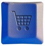 Shopping Cart Symbol on Keyboard Key --- Image by © William Whitehurst/Corbis
