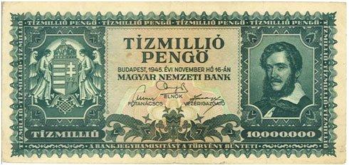 Hungría – 10 milliones de pengos, 1945