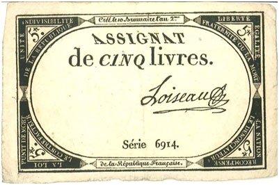 Francia – 5 libras, 1793