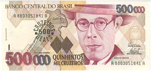 Brasil – 500 mil cruzeiros, 1993